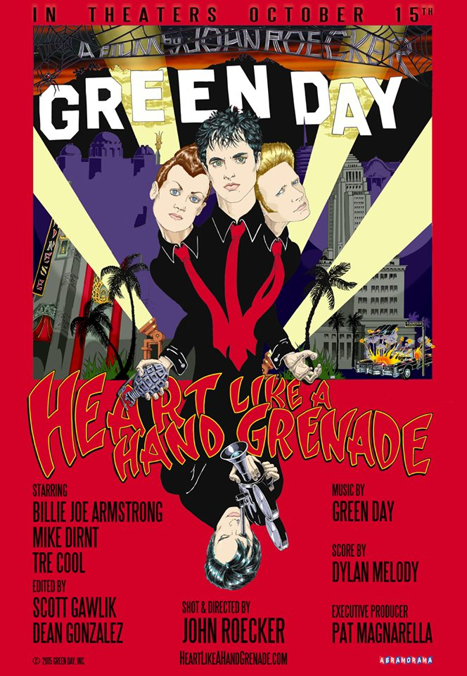 Green Day Heart Like A Hand Grenade Poster 2015