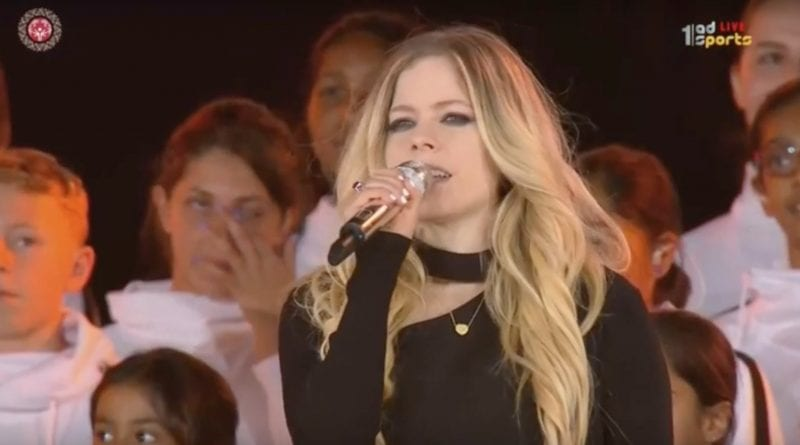 avril lavigne right where I'm supposed to be live special olympics opening ceremony